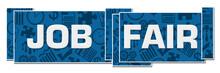 Job Fair Blue Textured Boxes