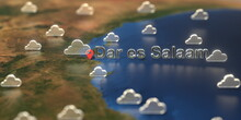 Dar Es Salaam City And Cloudy ...