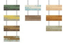Wooden Boards With Steel Chain...