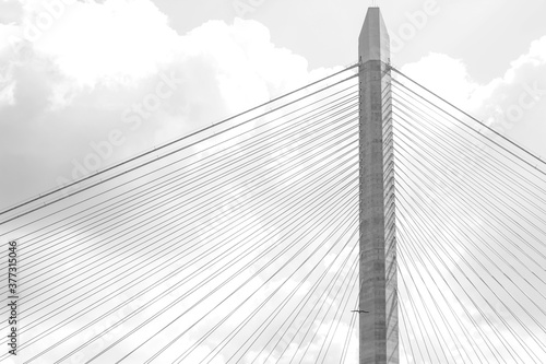 Fototapeta The Yavuz Sultan Selim Bridge is a bridge for rail and motor vehicle transit over the Bosphorus