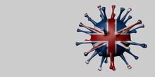 United Kingdom Flag In Virus Shape.