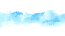 Light Blue Watercolor Border O...