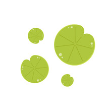 Lily Pad Vector. Lily Pad Logo Design.