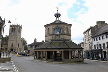 Town Centre Of Barnard Castle, County Durham. Unusual Eight Sided Building.