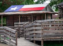 Texas Flag Painted On The Tin ...