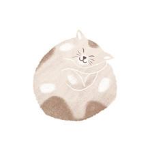 Sleeping Cat, Pet Illustration, Hygge Essentials