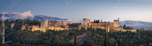 Alhambra Panorama & Sunset Fototapet