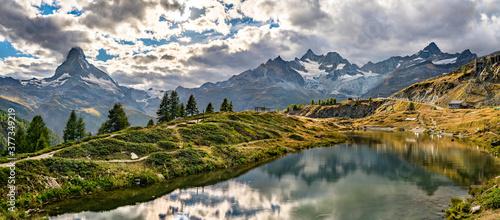 Fotografie, Obraz Leisee lake near Zermatt in Switzerland
