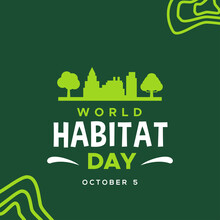 World Habitat Day Vector Desig...
