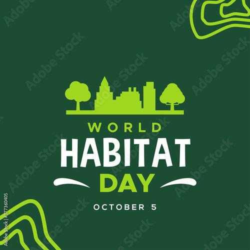 Fototapeta World Habitat Day Vector Design Illustration For Celebrate Moment