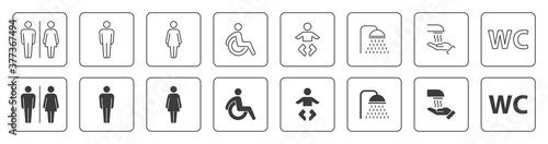 Fototapeta Bathroom Symbols obraz