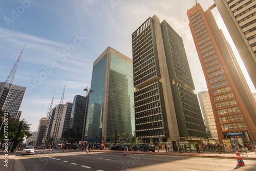 Fototapeta Paulista Avenue is one of the most important financial centers of the city and is a popular place to visit among locals and city guests
