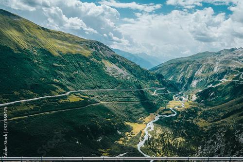 Tela Paisaje de montañas suizas