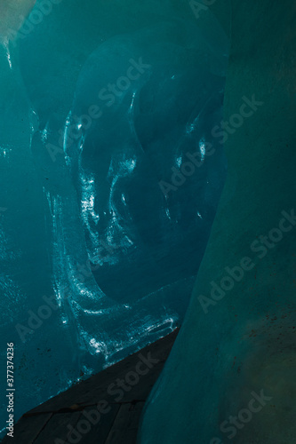 Paisaje de un glaciar en Suiza Fototapet
