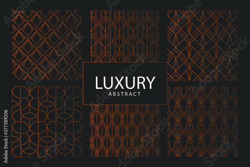 Fotografia set of seamless patterns with pattern