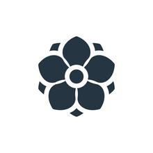 Anemone Icon. Glyph Anemone Icon For Website Design And Mobile, App Development, Print. Anemone Icon From Filled Flowers Collection Isolated On White Background..