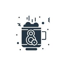 Coffee Icon. Glyph Coffee Icon...