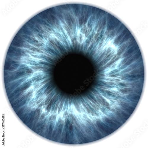 blue eye iris pupil Fotobehang