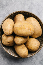 Bowl Of Perfect Russet Potatoes