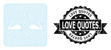 Textured Love Quotes Ribbon Se...