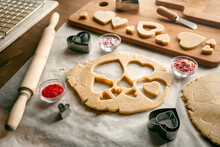 Heart Shaped Cookie Cutters And Baking Tools