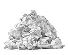 Paper Ball Crumpled Garbage Trash Mistake Stack Heap Crumple White Business Office Document