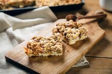 Food: Apple Cheese Crumble Cake