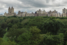 Manhattan Upper West Side From New York City's Central Park