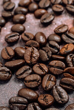 Coffee Beans Background, Fresh Roasted