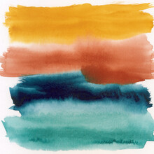 Multi-Colored Abstract Watercolor Painting