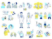 様々な感染症対策イメージ セット