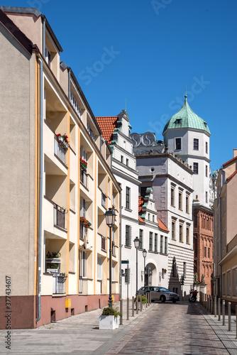 Obraz na plátně View to the Castle of the Pomeranian Dukes in Szczecin
