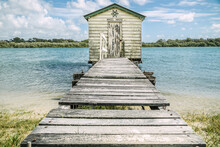 An Old Wooden Jetty Leading Ou...