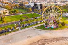 Aerial View Of A Ferris Wheel ...