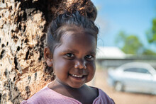 Aboriginal 3 Year Old Girl Smi...