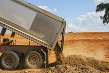 Truck Tipping Soil On A Constr...