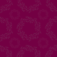 Floral Vintage Seamless Pattern On Magenta Background For Fabrics, Scrapbooking, Wrapping.