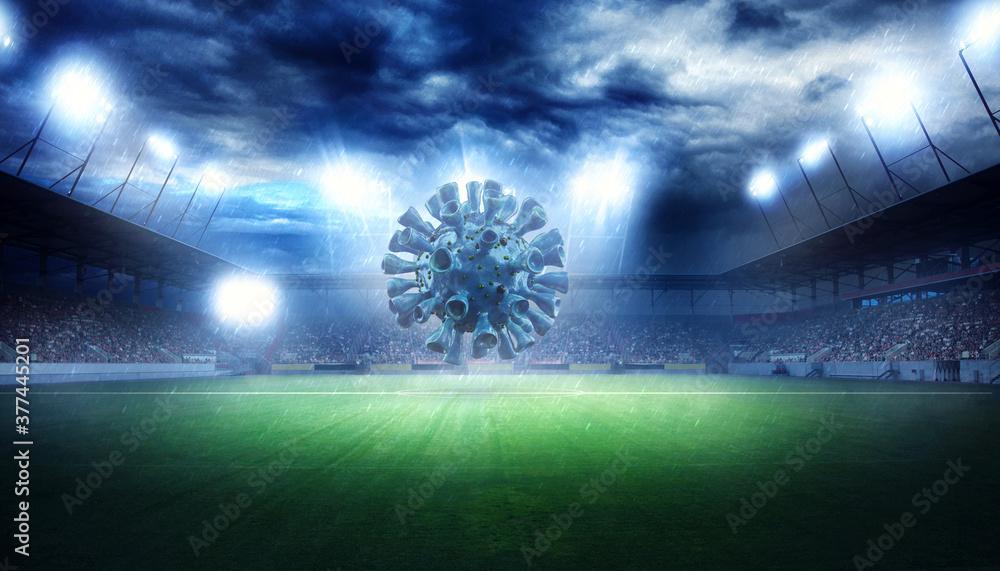 Fototapeta Soccer events through the corona virus time