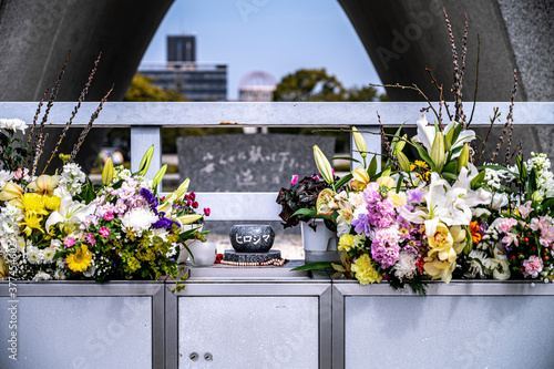 Fotografie, Obraz 広島平和都市記念碑と、捧げられた沢山のお花