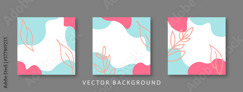 Social media stories and post creative Vector set Fototapeta
