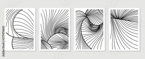 Abstract wall art vector collection Wallpaper Mural