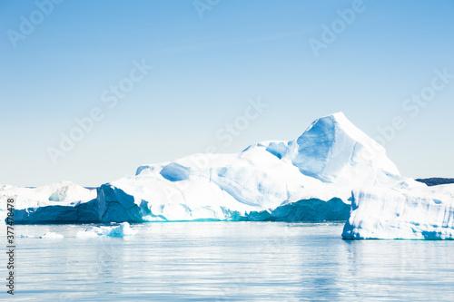 Big iceberg in Ilulissat icefjord, Greenland. Atlantic ocean Canvas