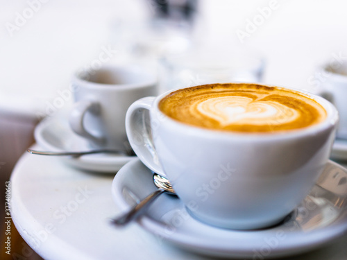Obraz na plátně cup of cappuccino latte espresso coffee