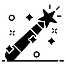Design Of Magic Wand Icon, A ...