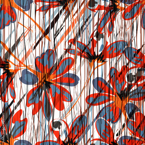 Floral pattern with vibrant colors for your creative ideas Fototapeta