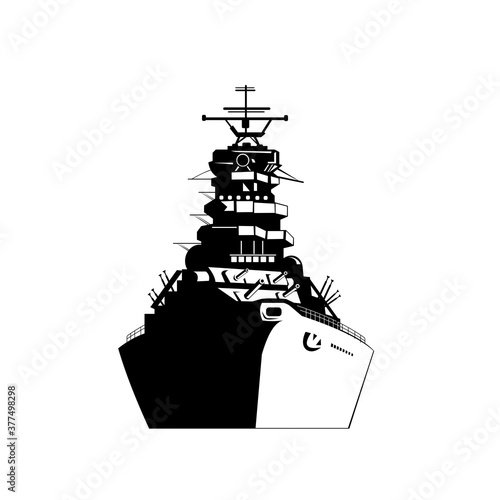 Leinwand Poster American or United States Battleship Warship Dreadnought Naval Fighting Ship Fro