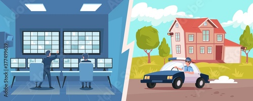 Photo Home Security Illustration