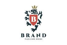 Coat Of Arms Heraldic Lion Log...