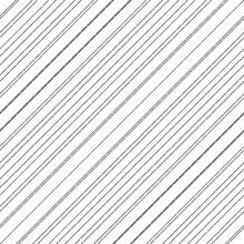 Diagonal Thin Dashed Black Lines Abstract On White Background. Seamless Surface Pattern With Linear Ornament. Angled Broken Strokes Motif. Slanted Pinstripes. Striped Digital Paper For Print. Dashes.