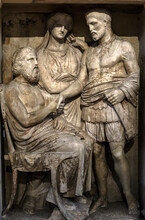 Ancient Greek Bas-relief On Gr...